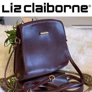Vintage Liz Claiborne oxblood crossbody bag